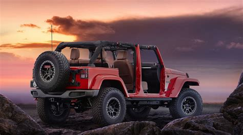 Jeep Wrangler Road Tires The Jeep Rock Concept With Road Wheels And Tires