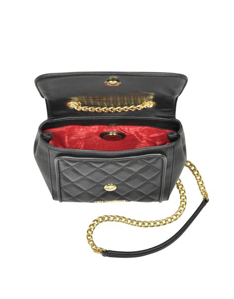 Moschino Quilted Crossbody Bag by Moschino Small Quilted Eco Leather Crossbody Bag In