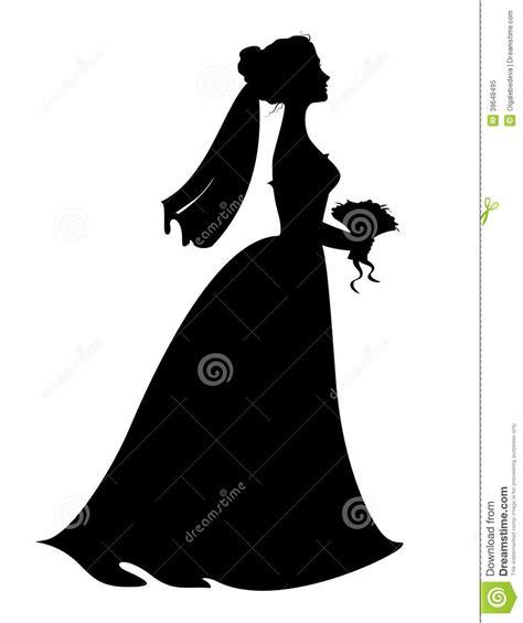 Wedding girl silhouette clipart Free Clipart Bride Silhouette