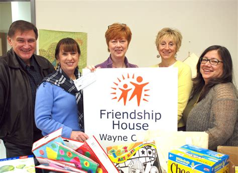 friendship house scranton honesdale rotary presents check to friendship house poconobusinessjournal com