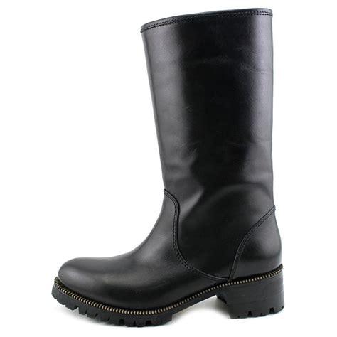 womens black leather moto boots sebastian milano motorcycle boot women leather black mid