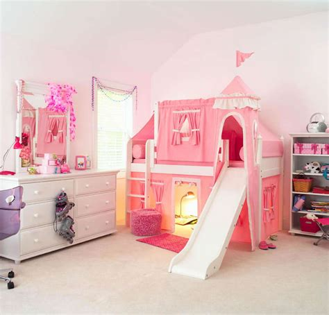 girl bunk beds with slide treat your little queen with princess bunk bed with slide