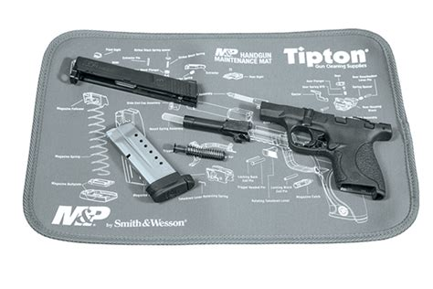 Handgun Cleaning Mat by New Tipton Gun Cleaning Maintenance Mats Recoil
