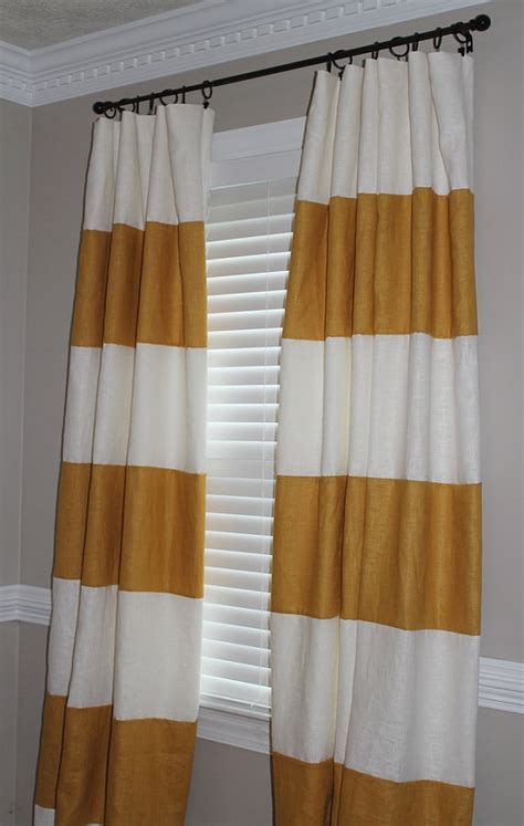 striped curtain panels horizontal items similar to horizontal stripe drapery panels on etsy