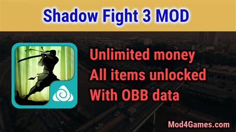 mod game unlimited money shadow fight 3 mod unlimited money all items unlocked