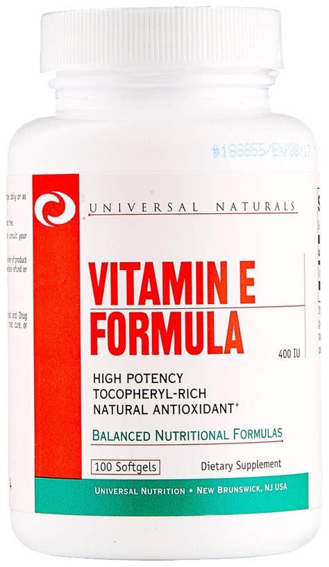 Vitamin Nourish E 400 Iu universal nutrition vitamin e formula 400 iu 100 softgels bodybuilding and sports supplements