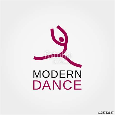 quot dance icon concept modern dancing studio logo design