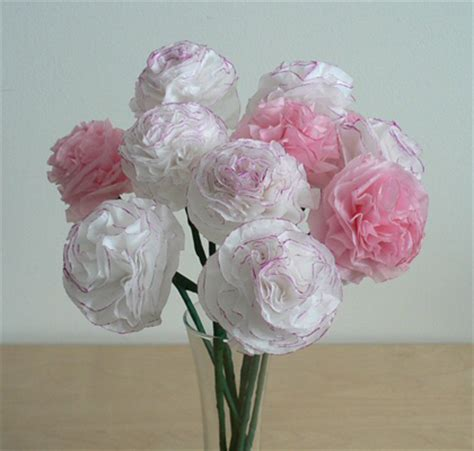 How To Make Paper Carnations - diy tissue paper carnations i do it yourself 174