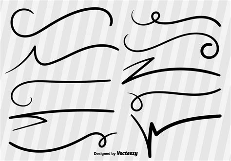 sketchbook vector swish sketch vector lines free vector
