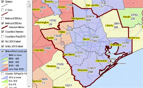 houston map counties building permits decision information resources