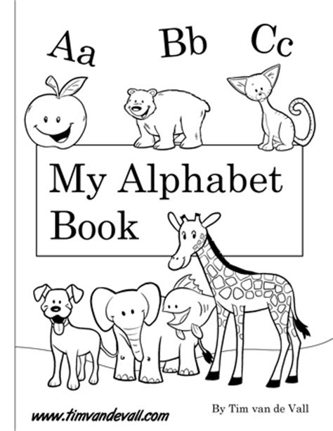 free printable alphabet book template free printable alphabet book pdf printables for preschool