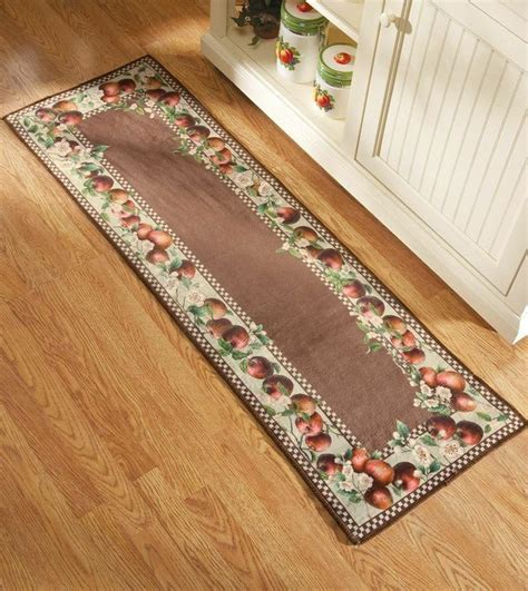 apple kitchen rug apple decor runner kitchen rug country decor apple blossom border runner apples kitchens and rugs