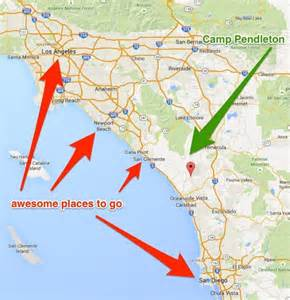 how far is c pendleton from san diego all you need to