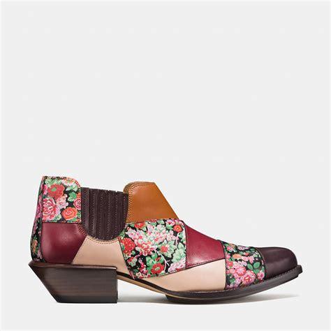 Patchwork Shoes - coach patchwork bandit leather boots lyst