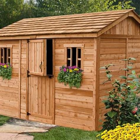 Outdoor Living Garden Shed by Outdoor Living Today Cb128 Cabana 12 X 8 Ft Garden Shed