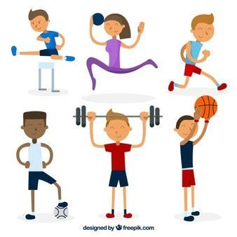 imagenes animadas haciendo deporte haciendo ejercicio fotos y vectores gratis