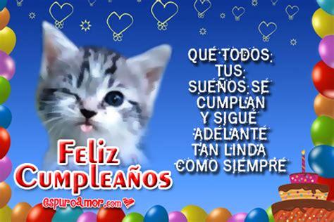 imagenes cumpleaños gatitos im 225 genes de tiernos gatitos con feliz cumplea 241 os