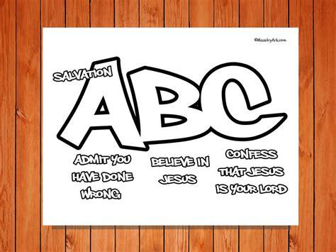 printable abc s of salvation salvation abc printable coloring page ministryark