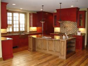 Small Kitchen Makeover Ideas On A Budget rustic red kitchen