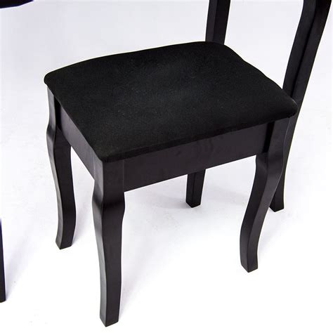 black makeup desk with drawers nishano dressing 3 stool black mirror bedroom