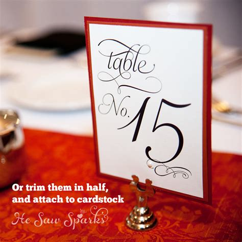 printable table numbers 1 20 5x7 21 30 table numbers printable 5x7 flat cards