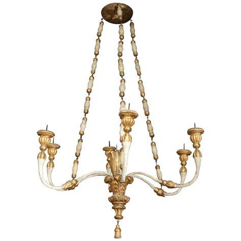 Venetian Chandelier 18th Century Painted And Gilt Venetian Chandelier For Sale
