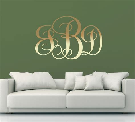 monogram wall d 233 cor for you the home decor ideas