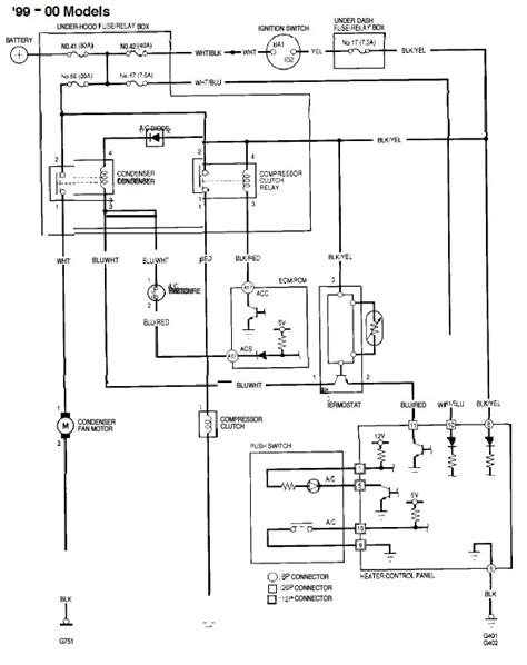 2000 honda accord ac wiring diagram fuse box and wiring