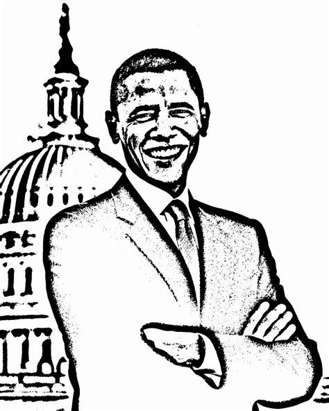 barack obama coloring page pdf 11 best images of barack obama worksheets for preschoolers