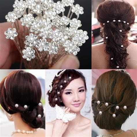 Wedding Hair Accessories And Jewellery by Aliexpress Buy Fashion Pearl Hair Pins Hair