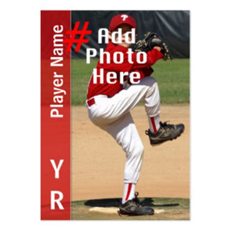 Custom Baseball Cards Template by Baseball Customized Business Card Templates