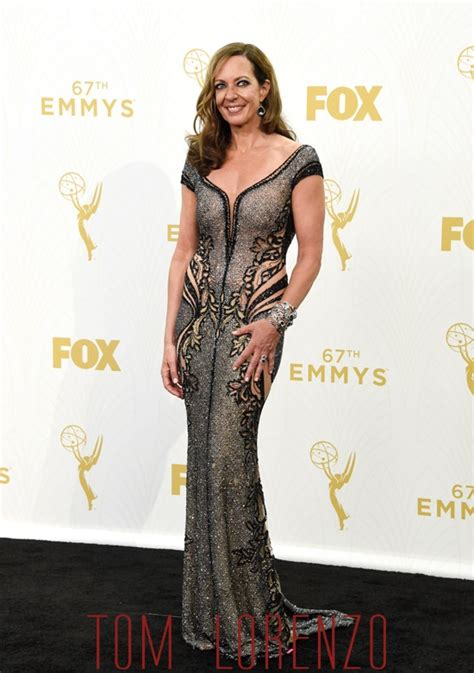 Style For Style Posing For Award Show Season by Emmys 2015 Allison Janney In La Bourjoisie Tom Lorenzo