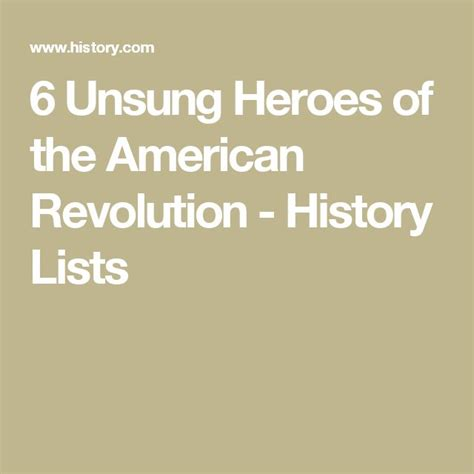 An Unsung American 6 Unsung Heroes Of The American Revolution History Lists Known American History