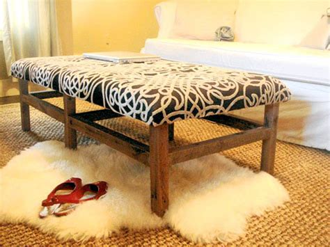 ottoman from coffee table diy diy ottomans landeelu com