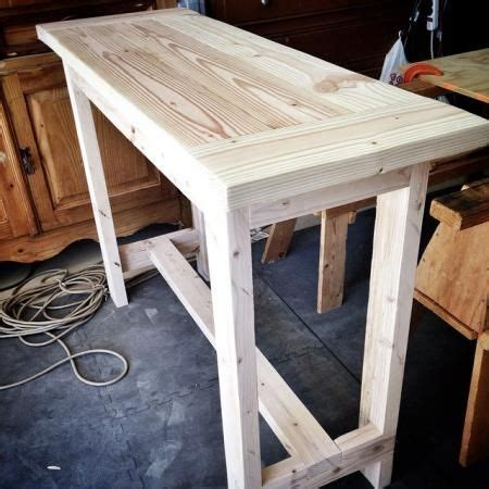 diy console table from 2x4 pine lumber easy plans from