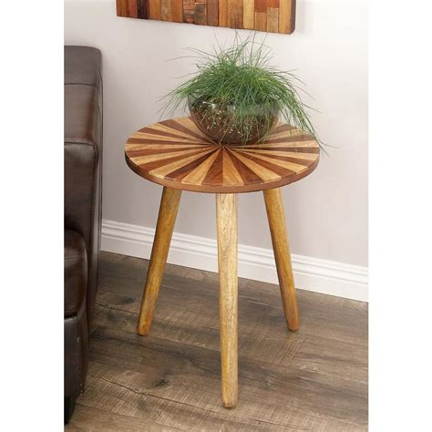 Wicker Patio Accent Table Martha Stewart Living Charlottetown Brown All Weather