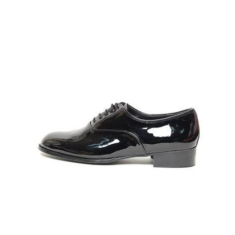 plain black oxford shoes s plain toe glossy black synthetic leather lace up