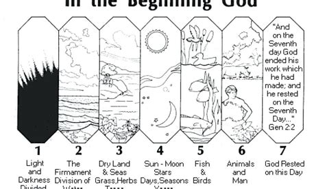 Day 7 Coloring Page by Creation Coloring Pages 7 Days Of