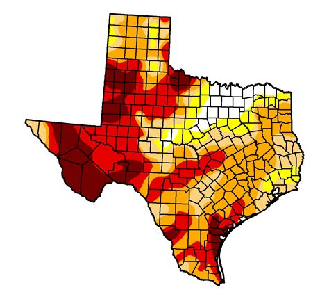 drought map texas your weekly drought update needle stays put stateimpact texas