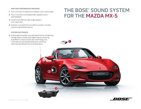 mazda 3 audio system mazda s mx 5 new bose audio system is all about open air