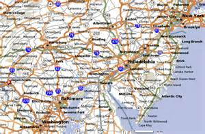 map maryland and pennsylvania new york washington dc