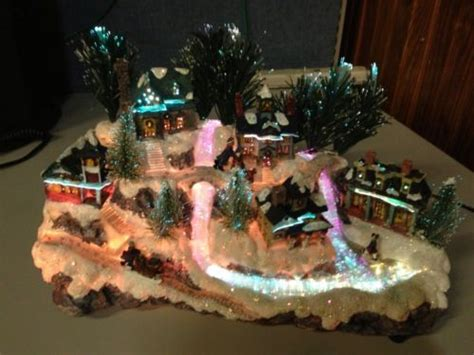 details about avon christmas fiber optic village friends