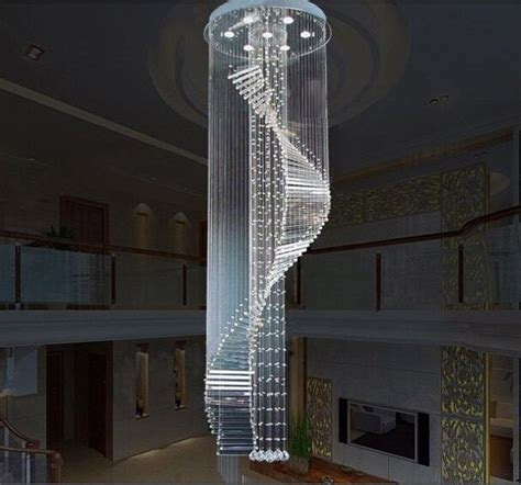 modern chandelier lighting spiral staircase