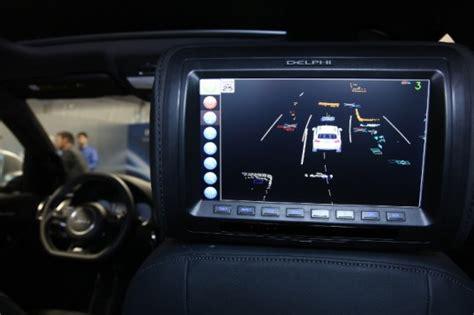 Sensor Set Cross A7 delphi s self driving car is set to take a road trip from