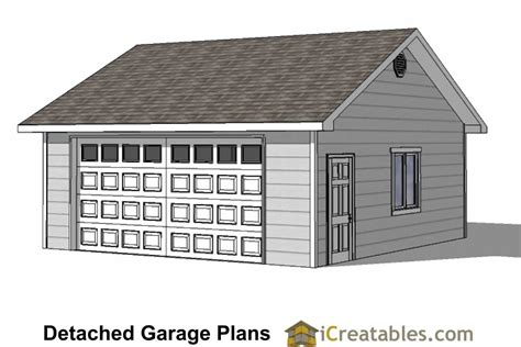 2 1 2 Car Garage Plans by 24x22 Garage Plans 2 Car Garage Plans