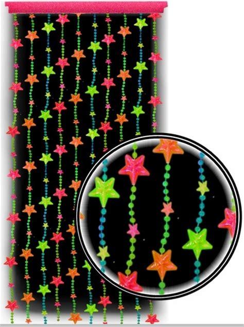 beaded curtains black light reactive neon door