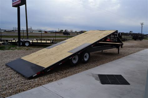 tilt bed trailers trailers pj gooseneck tilt dump equipment deckover and