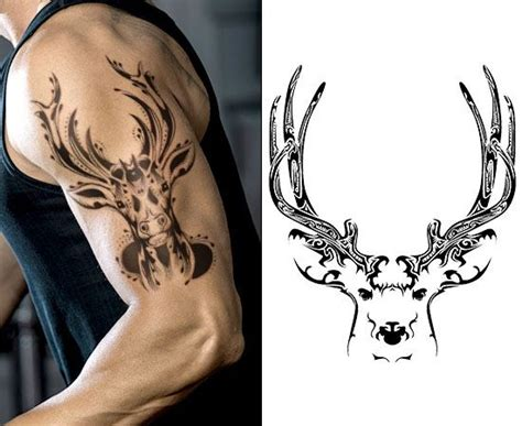 small deer tattoos powerful deer skull ideas for tim