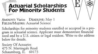 Mba Scholarships For Minority Students by Actuarial Scholarship