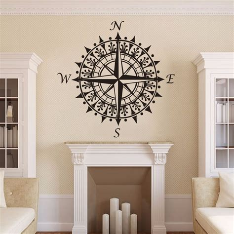 gift for home decoration aliexpress com buy compass rose nautical vinyl wall